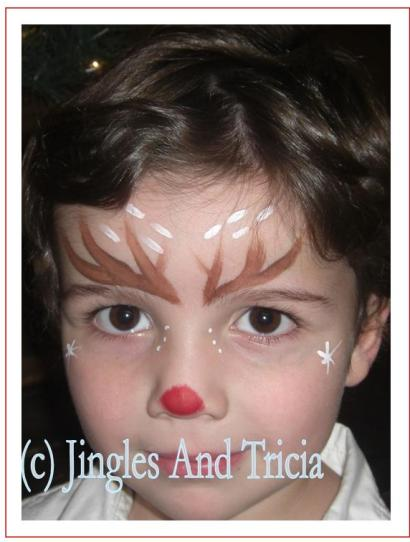 Reindeer Face Outline | New Calendar Template Site