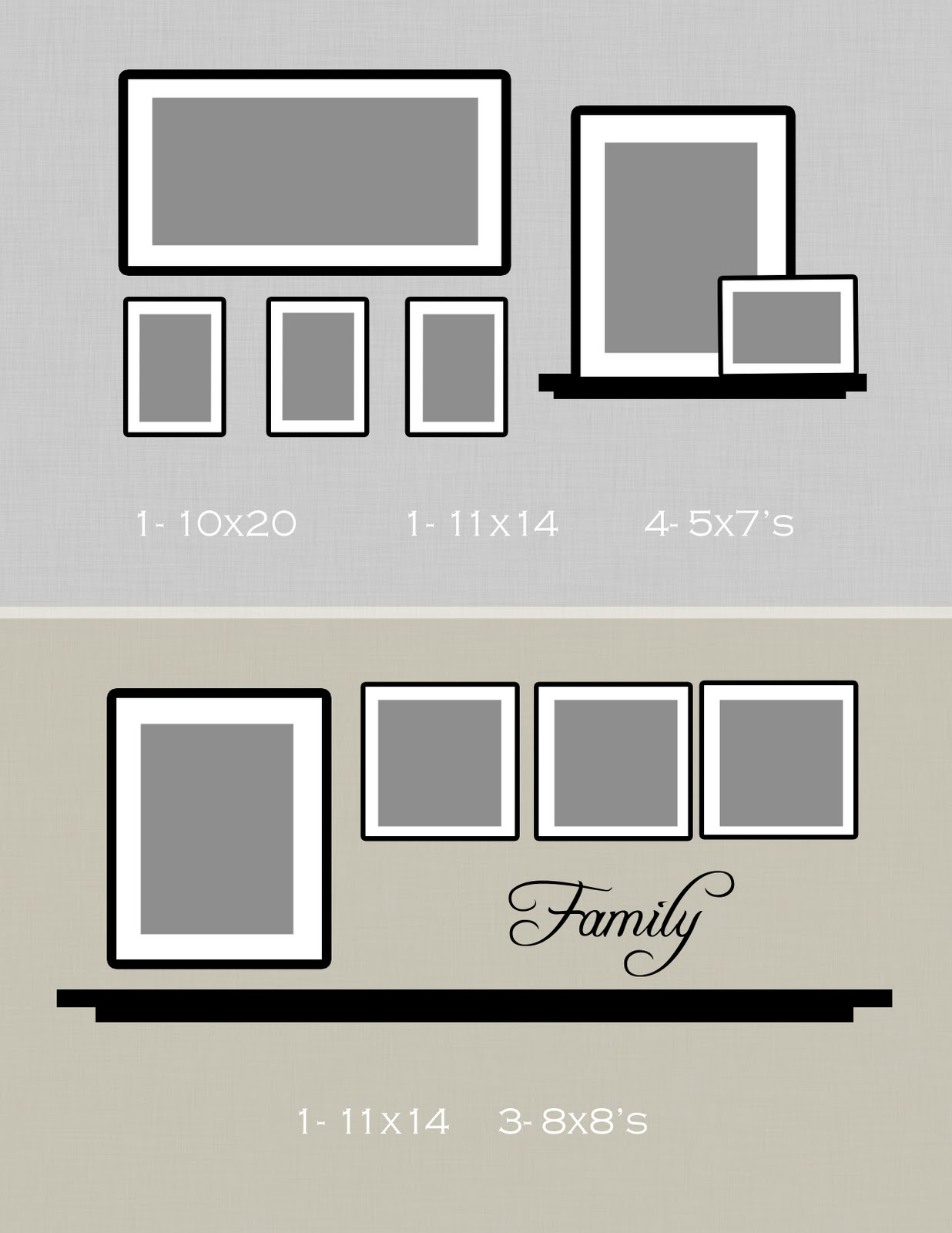 Photo Wall Ideas With Different Frames : Julie andress photography wall ideas