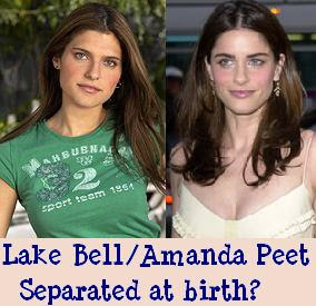 Lake Bell and Amanda Peet looking so alike maybe the two celebrities were separated at birth