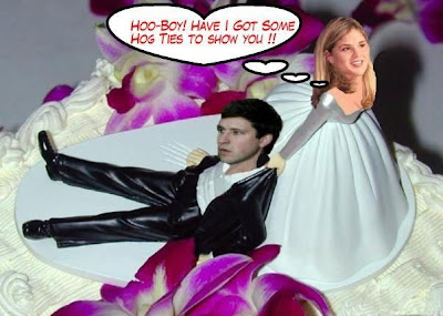 Jenna Bush and Henry Hager wedding photograph as envisioned by The Spewker