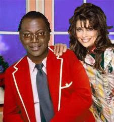 Randy Jackson outifit at American Idol finale looked like fashion from Captain Kangaroo - photo is a mockup