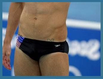 Maryland tattoo attracts attention to competitor in 2008 Beijing Olympics - Photo Crop courtesy of PerezHilton