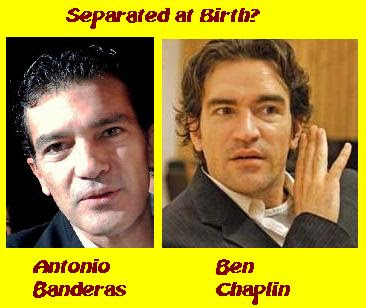 Actors Antonio Banderas and Ben Chaplin appear separated at birth