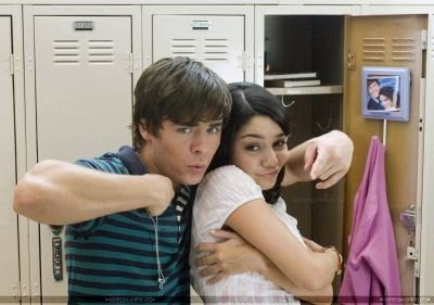 High School Musical star Vanessa Hudgens play acts with offscreen boyfriend Zac Efron