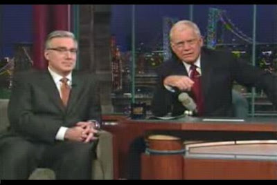 David Letterman fills a guest spot void with Keith Olbermann after John McCain cancels appearance at the last minute