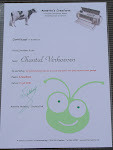 Expression certificaat Chantal