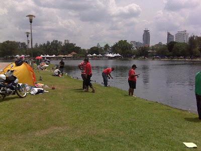 Foto menarik sempena pertandingan memancing anjuran OKU Melayu ...