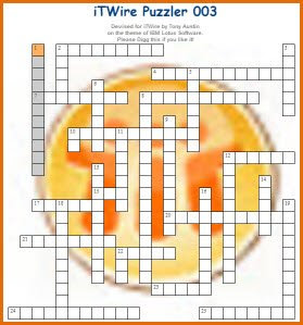 iTWire TechWords Interactive IBM Lotus Notes Crossword (No. 003)