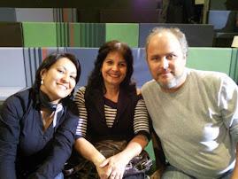 Sam eu e o diretor Luis Villaça na gravação do Norma na Rede  Globo