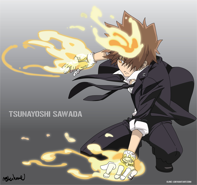 Tsuna Sawada~ Tsunayoshi_Sawada_by_Elric_1