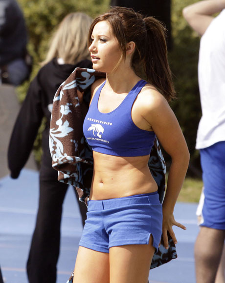 ashley tisdale hellcats hot. Ashley Tisdale in shorts and