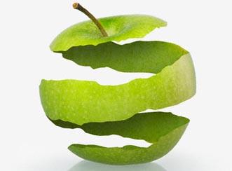 Kulit Buah Apel