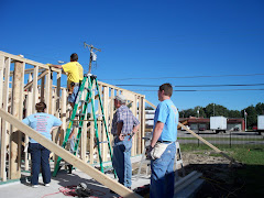 The walls going up on Habitat House