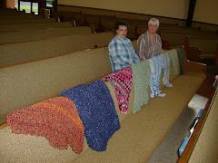 Nikki and Bonnie with Prayer shawls