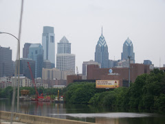 Philly skyline when we arrived