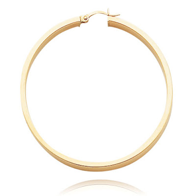 Flat Tube Hoop Earrings