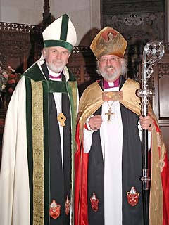(left) Bishop Bob Bennett (right) Bishop Bruce Howe
