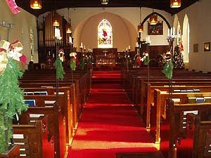 Inside Christ Church, Amherstburg, Ontario