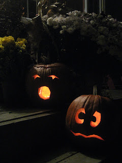 Jack O' Lanterns on my porch