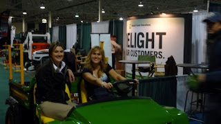 Jennifer Valentyne and Jen Christie on the Gator TE
