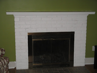 After painting the fireplace