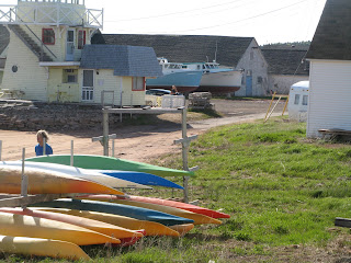 Kayaks at North Rustico Harbour