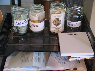 MY jars for budgeting