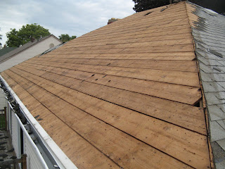 The south side after removing the shingles