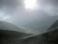 Treffen und Aufstieg zur Albert I Hütte, 2702 m.
