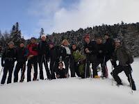 Sportler GPS Schulung mit Schneeschuhen