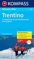 Kompass Skitourenfuehrer Trentino