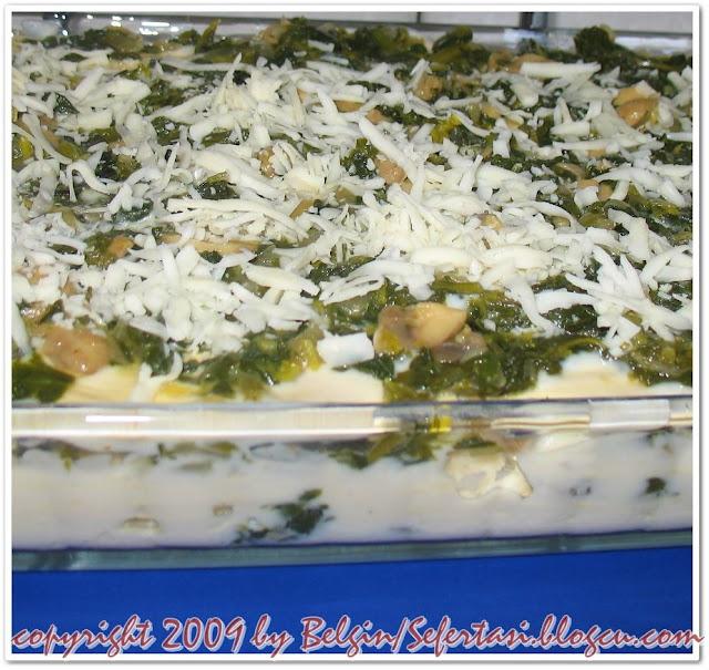 ıspanaklı mantarlı lazanya tarifi