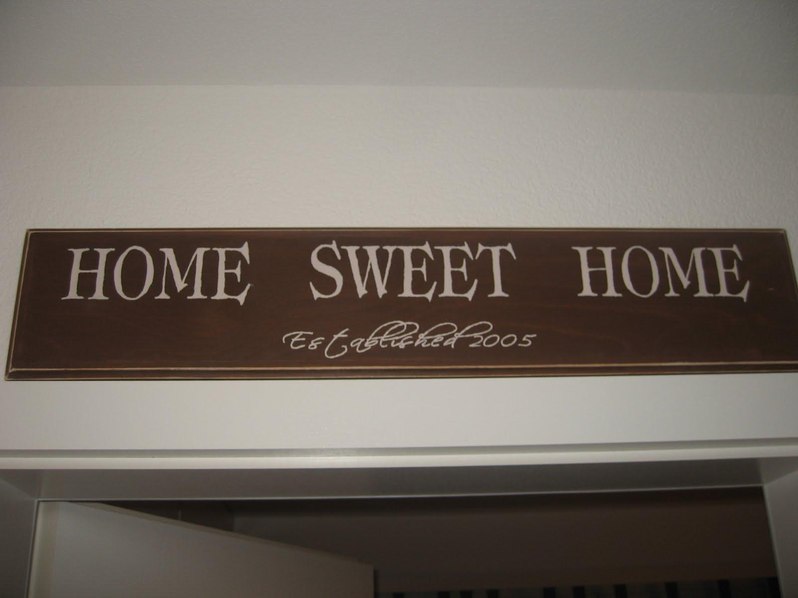 the way we live now diy 39 home sweet home 39 plaque. Black Bedroom Furniture Sets. Home Design Ideas