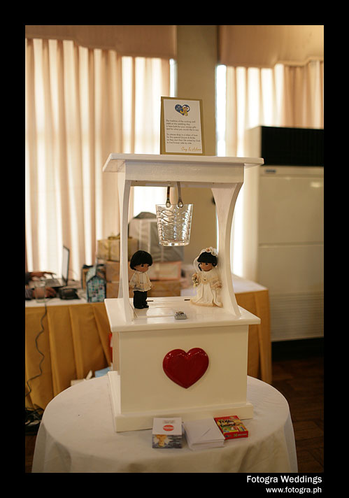 homemade wedding wishing well
