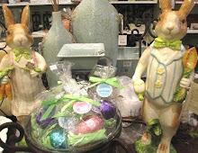 Porcelain Garden Bunnies