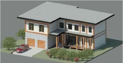 Revit building design revit building model 3 for Revit architecture modern house design