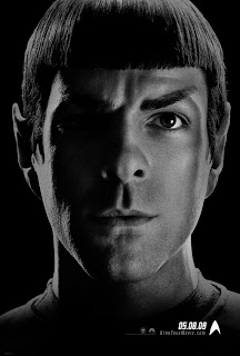 Zachary Quinto as Spock the Vulcan in Star trek movie