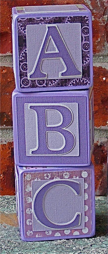 wood letter blocks. Wooden Letter Blocks {Lavender