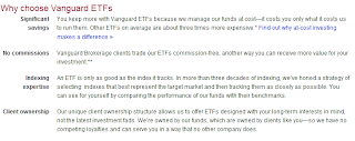 Choosing Vangaurd ETFs