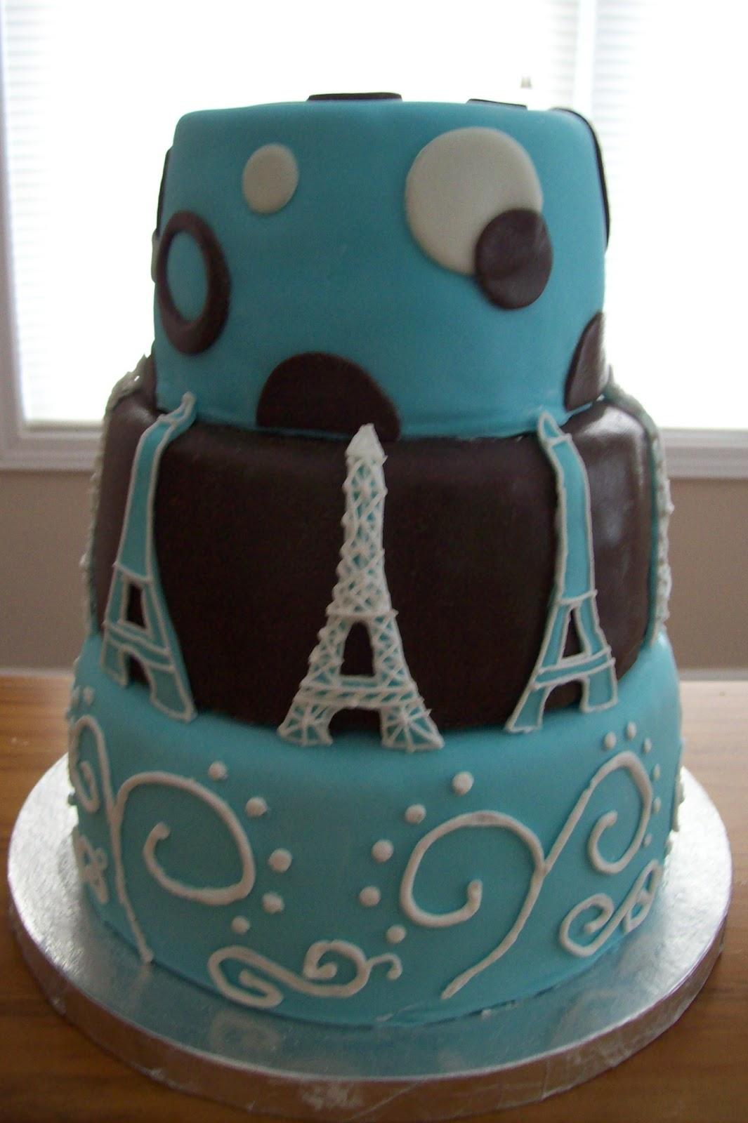 Sugar Trail Eiffel Tower Birthday Cake