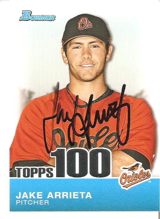 The great orioles autograph project orioles game autographs for Jake arrieta tattoo