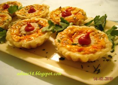 Articole culinare : Cosulete umplute cu branza, masline si ciuperci
