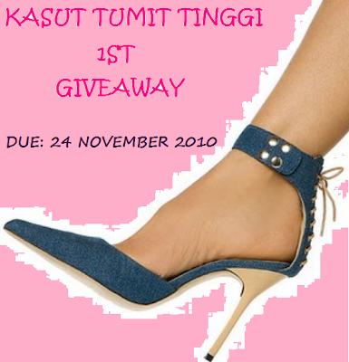 Kasut Tumit Tinggi 1st Giveaway