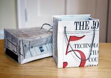Kado-tasjes maken van oude kranten of tijdschriften!