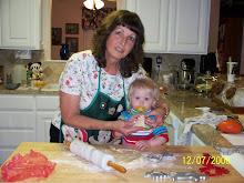 Bree & Nona baking Chrstmas cookies