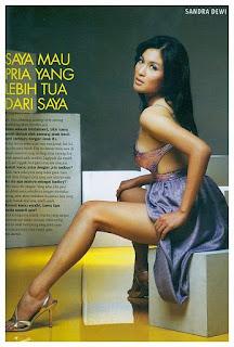 sandra dewi, cewek seksi indonesia, tidak suka telanjang