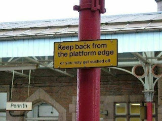 funny signs danger train platform penrith