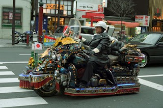 funny photo of motorbike in japan