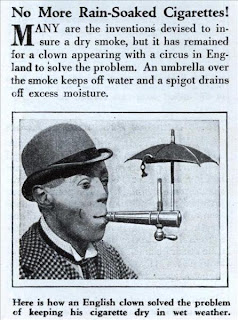 funny umbrella for smoking cigarettes advert