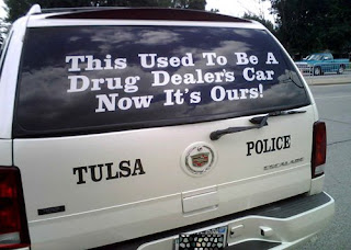 funny police car confiscated by tulsa police for drug dealing